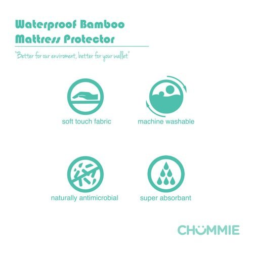 Chummie Luxury Reusable Bamboo Waterproof Bedding Overlay for Bedwetting - Better Environment
