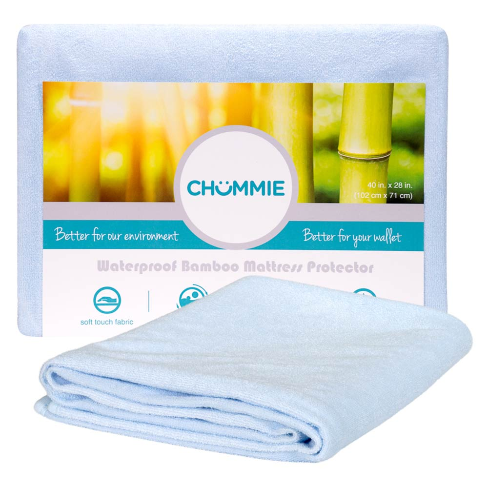 Chummie Luxury Reusable Bamboo Waterproof Bedding Overlay for Bedwetting