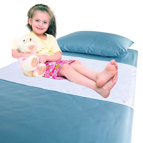 Chummie Luxury Reusable Bamboo Waterproof Bedding Overlay for Bedwetting - Happy Child