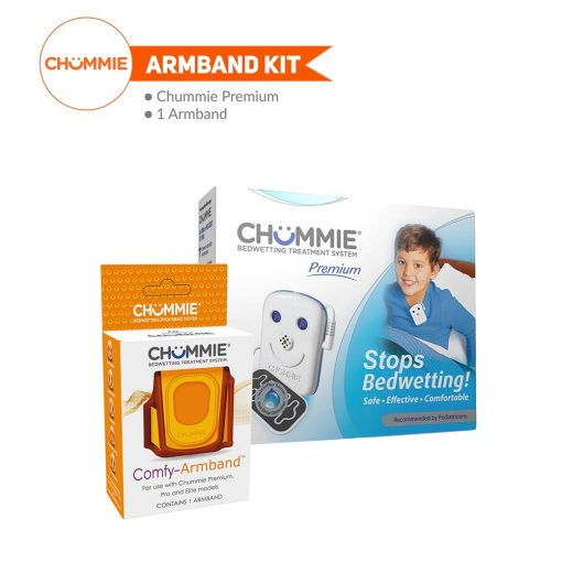 Chummie Premium Bedwetting Alarm Armband Kit - Blue