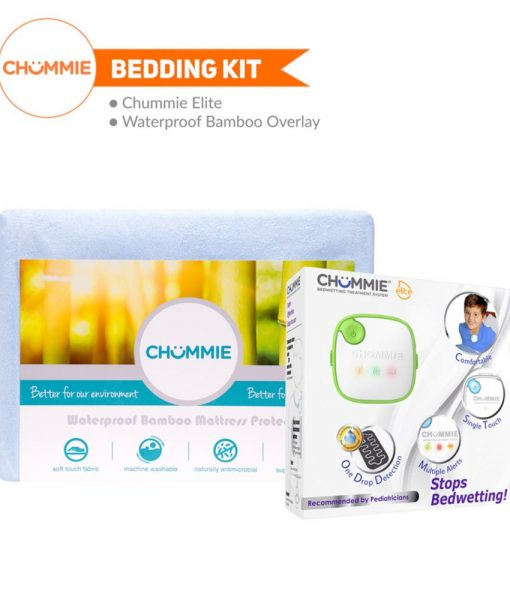 Chummie Elite Bedwetting Alarm Bedding Kit - Green with Bamboo