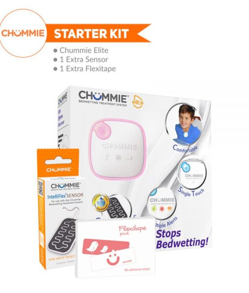 Chummie Elite Bedwetting Alarm Starter Kit - Pink