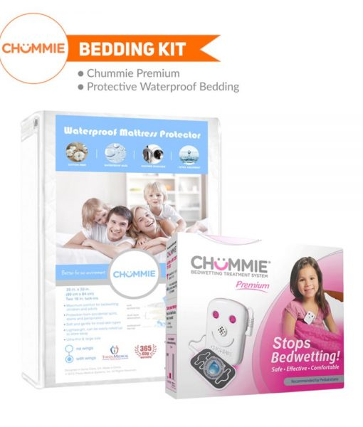 Chummie Premium Bedwetting Alarm Bedding Kit - Pink with Wings