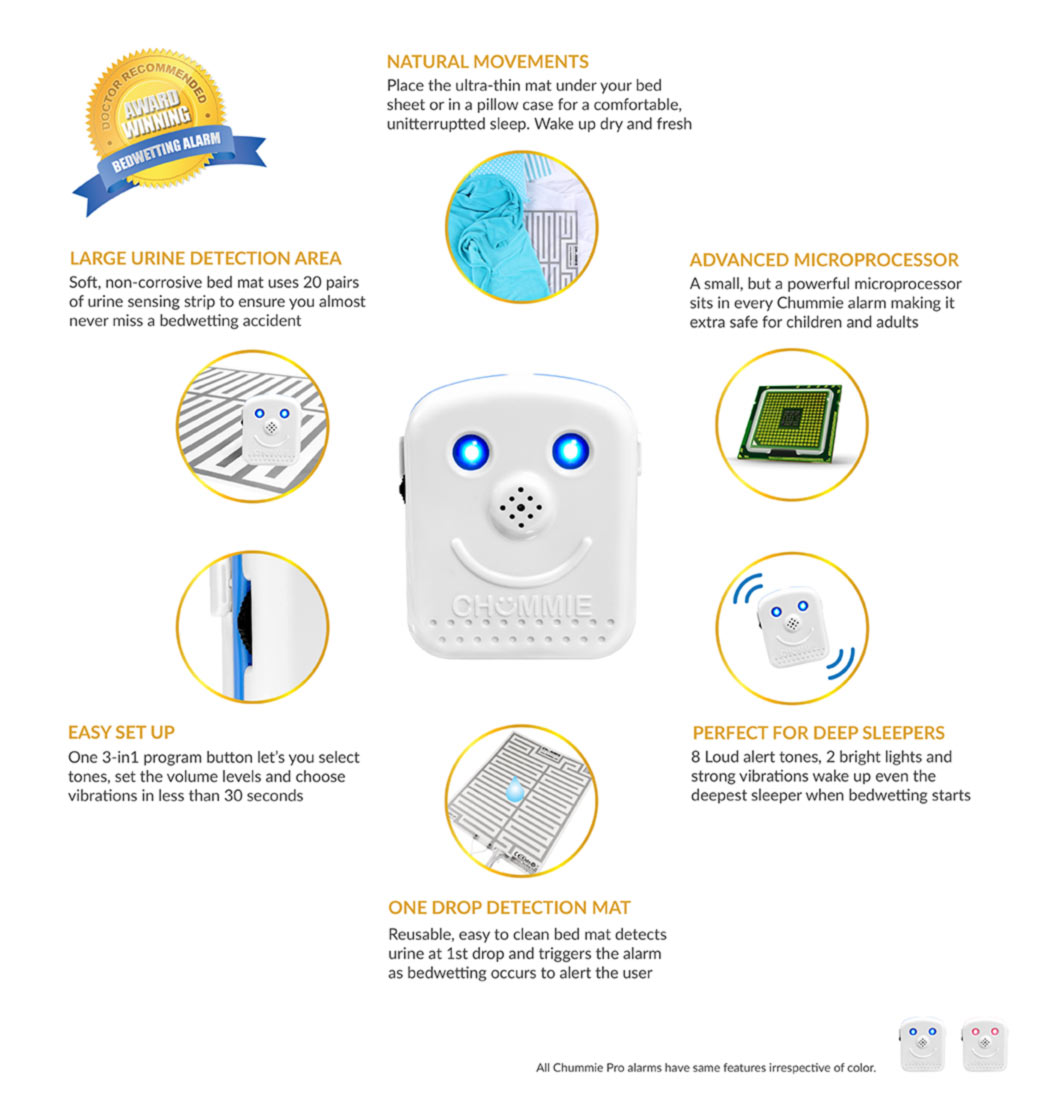 Alarms Functions Circles Pro O Chummie Bedwetting Alarm